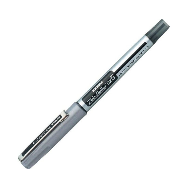 Microliner Zebra Pen DX5 BE-a 0,5 Silver/black / 16071Z / 4901681104116