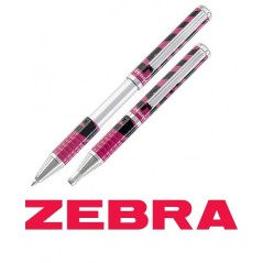 Olovka hemijska Zebra Pen SL-F1 EXPANDZ Telescopic 0,7 ZEBRASTA RUŽIČASTO CRNA Striped Purple+Black/blue 58787/ 4901681587971