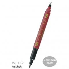 Brush Pen Zebra WFT52 Double end Red/Black (telo crveno/mastilo...